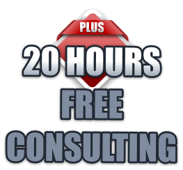 PLUS 20 HOURS  FREE  CONSULTING